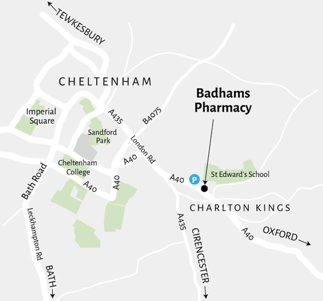 Charlton Kings map